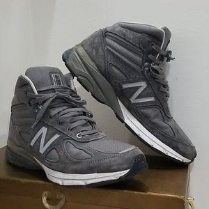 New balance gray canvas leather size 13 men sneake